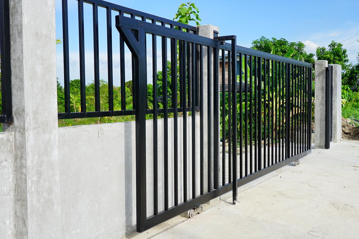 Sliding gate at home.